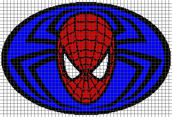 Spider-Man Logo - (Graph AND Row-by-Row Written Crochet Instructions) - 10