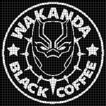 Wakanda Black Coffee - Black Panther - (Graph AND Row-by-Row Written Crochet Instructions) - 02