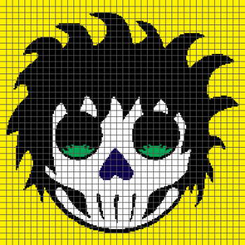 Rockabilly Day of the Dead Sugar Skull - (Graph AND Row-by-Row Written Crochet Instructions) - 07