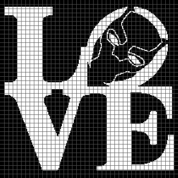 Black Panther/Wakanda Love - (Graph AND Row-by-Row Written Crochet Instructions) - 03