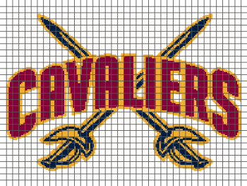 Cleveland Cavaliers - (Graph AND Row-by-Row Written Crochet Instructions) - 02