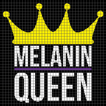 Melanin Queen - (Graph AND Row-by-Row Written Crochet Instructions) - 07
