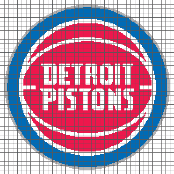 Detroit Pistons - (Graph AND Row-by-Row Written Crochet Instructions) - 01