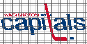 Washington Capitals - (Graph AND Row-by-Row Written Crochet Instructions) - 02