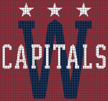 Washington Capitals - (Graph AND Row-by-Row Written Crochet Instructions) - 03