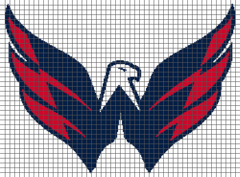 Washington Capitals - (Graph AND Row-by-Row Written Crochet Instructions) - 04