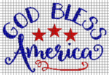 God Bless America - (Graph AND Row-by-Row Written Crochet Instructions) - 01
