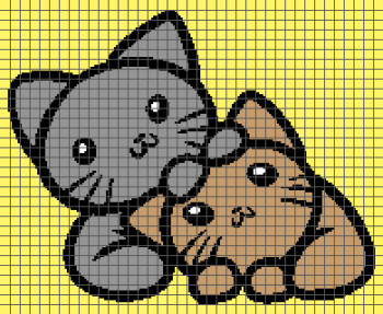 Adorable Kittens - (Graph AND Row-by-Row Written Crochet Instructions) - 05