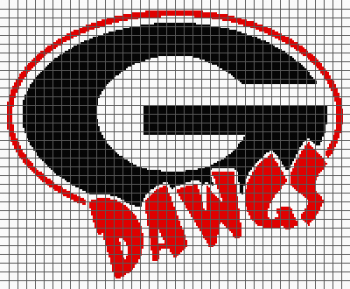 University of Georgia - Dawgs - (Graph AND Row-by-Row Written Crochet Instructions) - 09