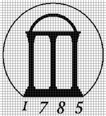 University of Georgia Arches - (Graph AND Row-by-Row Written Crochet Instructions) - 11