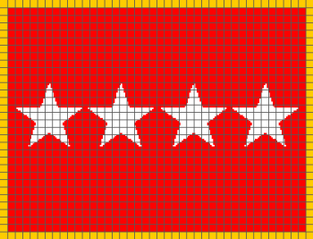 4-Star Army General Flag - (Graph AND Row-by-Row Written Crochet Instructions) - 04