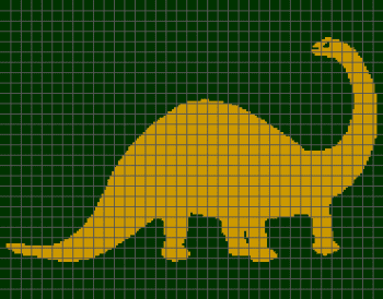 Long-Necked Dinosaur - (Graph AND Row-by-Row Written Crochet Instructions) - 03