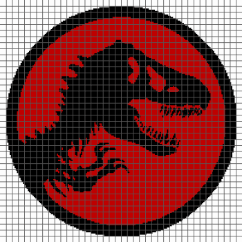 Jurassic Park Dinosaur Skeleton - (Graph AND Row-by-Row Written Crochet Instructions) - 01
