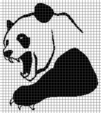 Mad Panda - (Graph AND Row-by-Row Written Crochet Instructions) - 01