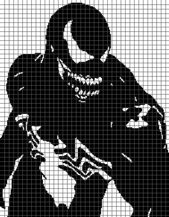 Venom - (Graph AND Row-by-Row Written Crochet Instructions) - 05