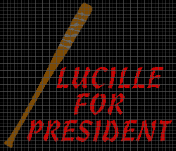 Lucille for President (The WalkingDead) - (Graph AND Row-by-Row Written Crochet Instructions) - 09