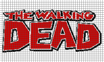 The Walking Dead Comic Book Logo - (Graph AND Row-by-Row Written Crochet Instructions) - 10