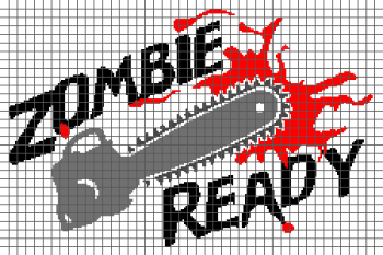 Zombie Ready - (Graph AND Row-by-Row Written Crochet Instructions) - 01