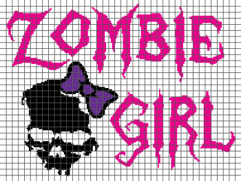 Zombie Girl - (Graph AND Row-by-Row Written Crochet Instructions) - 02