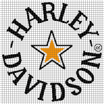 Harley Davidson - (Graph AND Row-by-Row Written Single Crochet Instructions) - 09