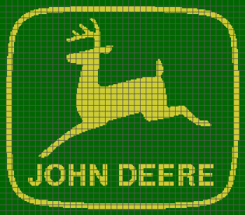 John Deere Logo - (Graph AND Row-by-Row Written Single Crochet Instructions) - 01