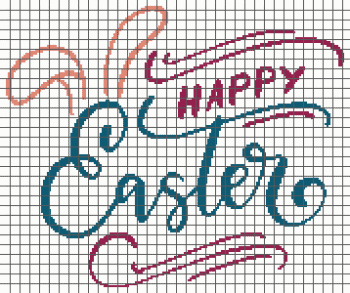Happy Easter - (Graph AND Row-by-Row Written Single Crochet Instructions) - 02