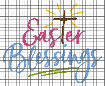 Easter Blessings - (Graph AND Row-by-Row Written Single Crochet Instructions) - 04