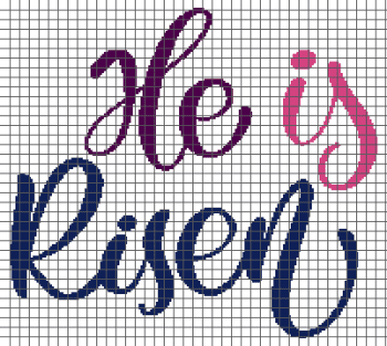 He is Risen - (Graph AND Row-by-Row Written Single Crochet Instructions) - 06
