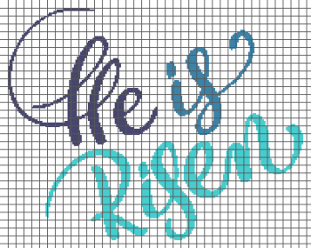 He is Risen - (Graph AND Row-by-Row Written Single Crochet Instructions) - 07
