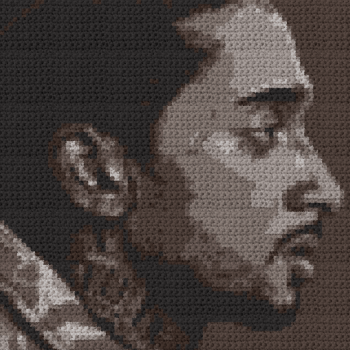 Nipsey Hussle Pillow - (Graph AND Row-by-Row Written Single Crochet Instructions) - 03s