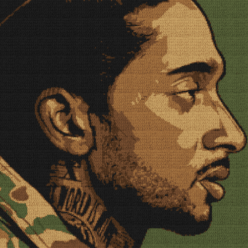 Nipsey Hussle - (Graph AND Row-by-Row Written Single Crochet Instructions) - 04