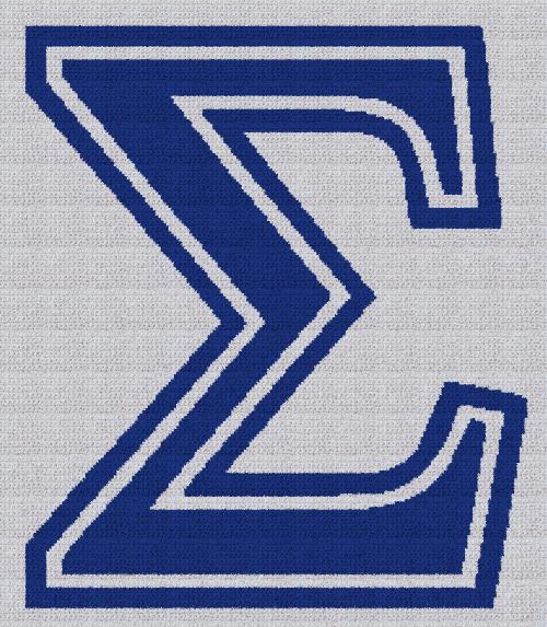 Phi Beta Sigma - SC (Single Crochet) Written Graphghan Pattern - 01 (203x234)