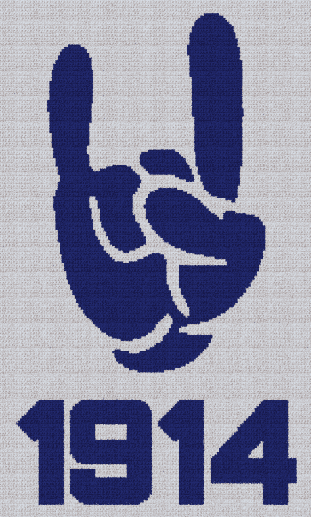 Phi Beta Sigma Hand (1914) - SC (Single Crochet) Written Graphghan Pattern - 02 (150x250)