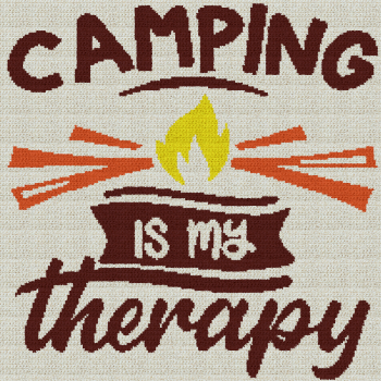 Camping Is My Therapy - Single Crochet Written Graphghan Pattern - 01 (200x200)