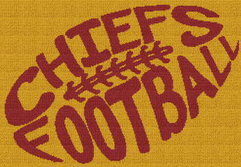 Chiefs Football - Single Crochet Written Graphghan Pattern - 05 (249x173)