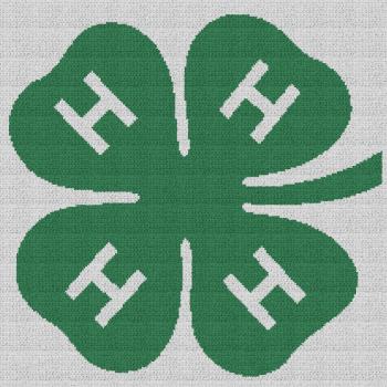 4-H Emblem - C2C Written Graphghan Pattern - 01 (210x210)