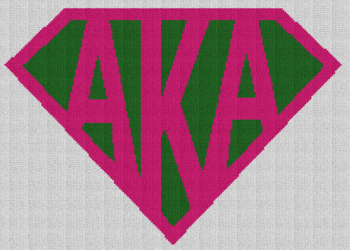 Super AKA (Alpha Kappa Alpha) - Single Crochet Written Graphghan Pattern - 03 (210x150)