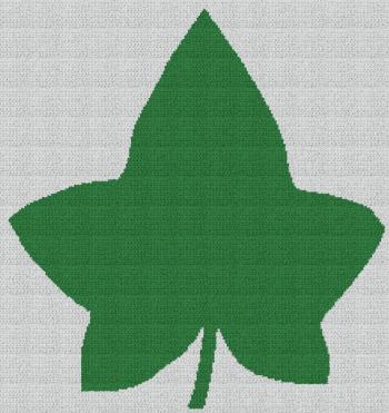 Alpha Kappa Alpha (AKA) Ivy Leaf - C2C Written Graphghan Pattern - 04 (222x235)