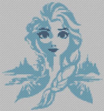 Elsa (Frozen) C2C - C2C Written Graphghan Pattern - 17 (92x99)