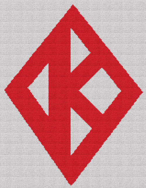 Kappa Alpha Psi - Single Crochet Written Graphghan Pattern - 01 (161x207)
