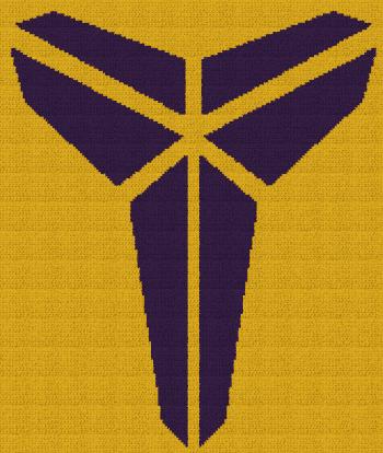 Black Mamba - Kobe Bryant - Single Crochet Written Graphghan Pattern - 02