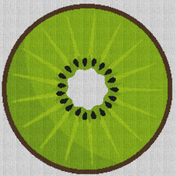 Sliced Kiwi - Single Crochet Written Graphghan Pattern - 01 (230x230)