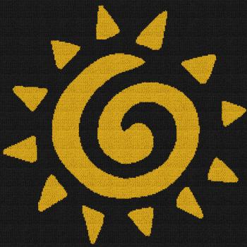 Circle of Life - The Lion King - Single Crochet Written Graphghan Pattern - 03 (215x215)
