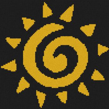 Circle of Life - The Lion King (Bobble) - Single Crochet Written Graphghan Pattern - 03s (100x100)