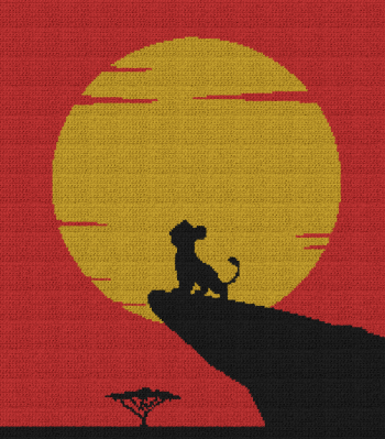 The Lion King - Young Simba - Single Crochet Written Graphghan Pattern - 05 (200x228)