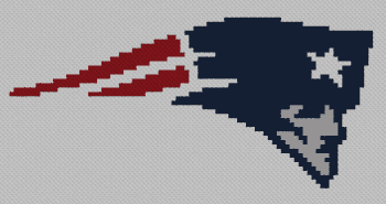 New England Patriots C2C - Single Crochet Written Graphghan Pattern - 01 (87x45)