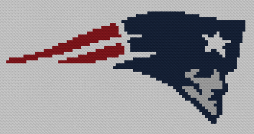 New England Patriots C2C - Single Crochet Written Graphghan Pattern - 01 (87x45)