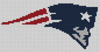 New England Patriots Pillow - Single Crochet Written Graphghan Pattern - 01 (87x45)