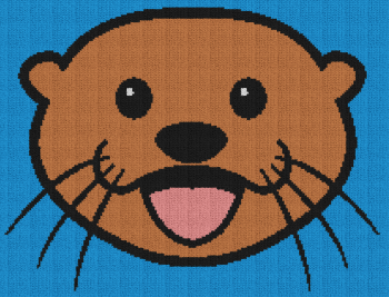 Sea Otter Face - C2C Written Graphghan Pattern - 01 (210x160)