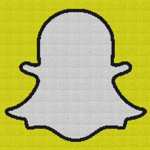 Snapchat Logo - Single Crochet Written Graphghan Pattern - 01 (188x185)
